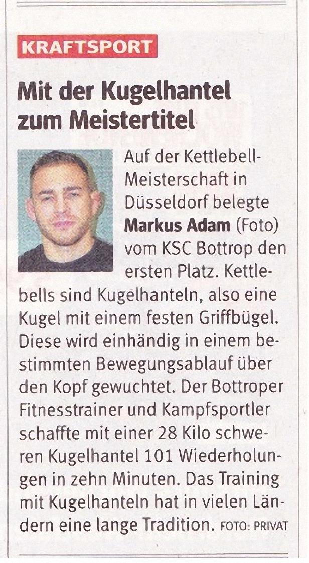 Artikel WAZ Kettlebellmeisterschaft 29.07.2014